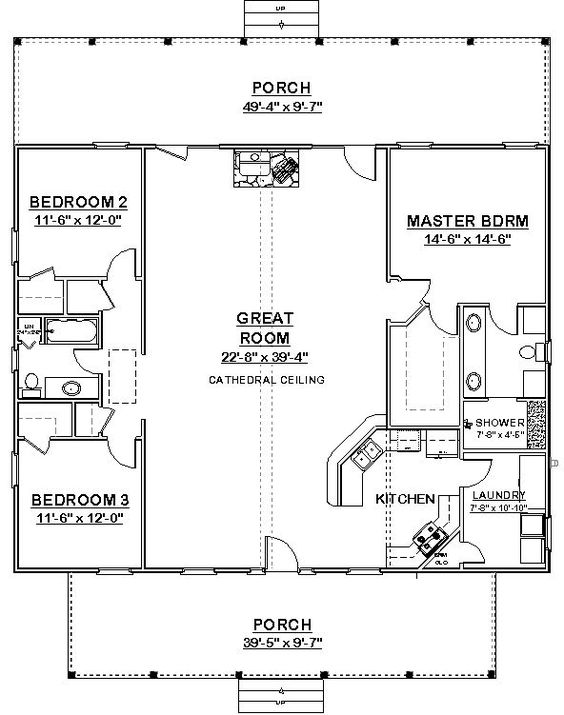 High Quality Square House Plans 40x40 | The Makayla Plan Has 3 Bedrooms And 2 Baths In A  Split Plan Format ... | Mix | Pinterest | Square House Plans, Bath And  Squares