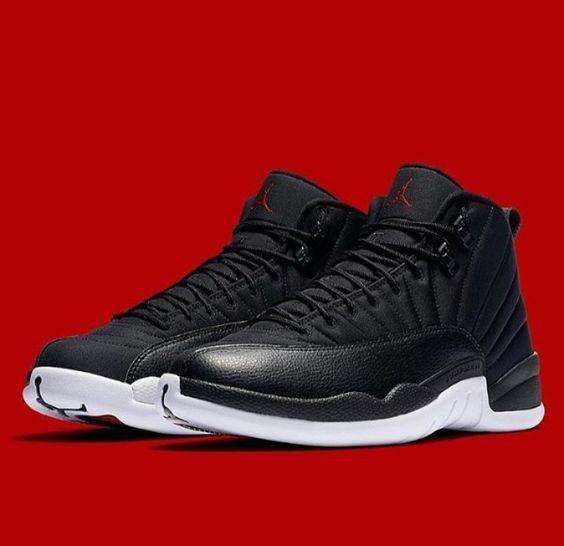 "Air Jordan XII ""Neoprene"" (Black / White) - Gym Red"