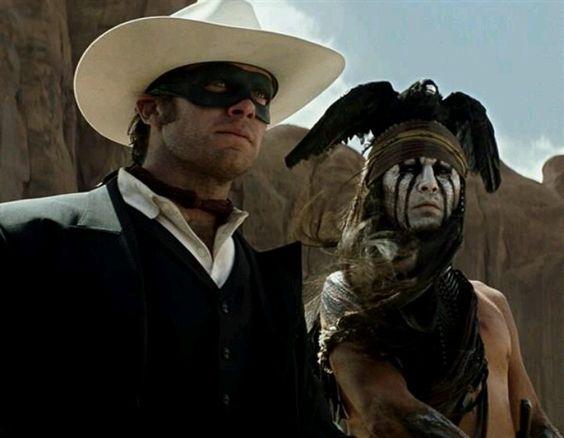Lone Ranger with Johnny Depp