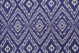 Robert Allen Strie Ikat Upholstery Fabric in Ultramarine $20.95 per yard