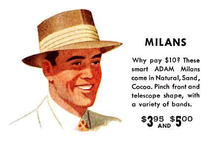 Adam Hats ad 1951 by BillCoughlan, via Flickr