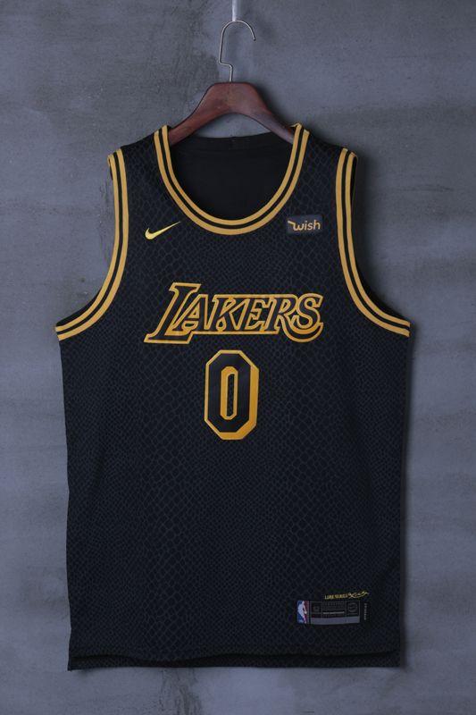 Lakers Kuzma 0 Black Basketball Jersey Nba Jersey Basketball Jersey Basketball Uniforms Design