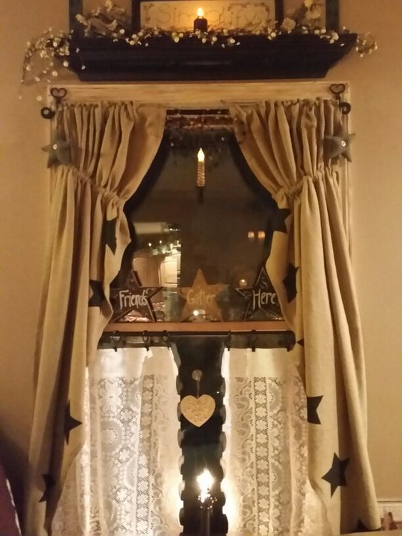 More burlap curtains! | Country house | Pinterest | Burlap ...