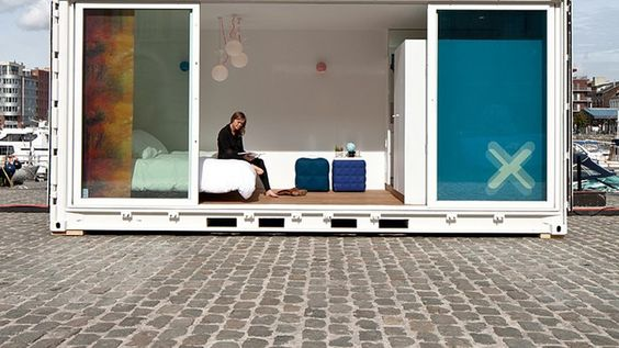 Sleeping Around: Shipping containers revamped as relocatable B