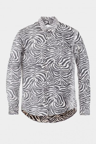 Our Legacy First Shirt Reversed Zebra