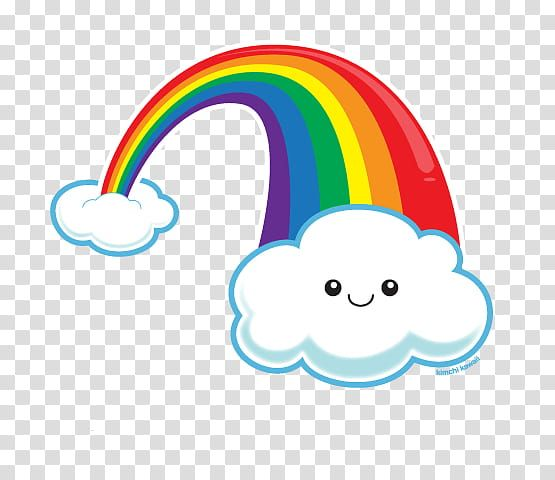 Kawaii Rainbow And Clouds Art Work Transparent Background Png Clipart Cloud Art Rainbow Cartoon Clip Art