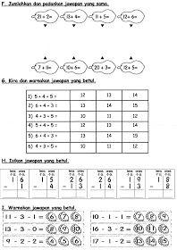 Latihan Matematik Preschool Worksheets Kindergarten Worksheets Math