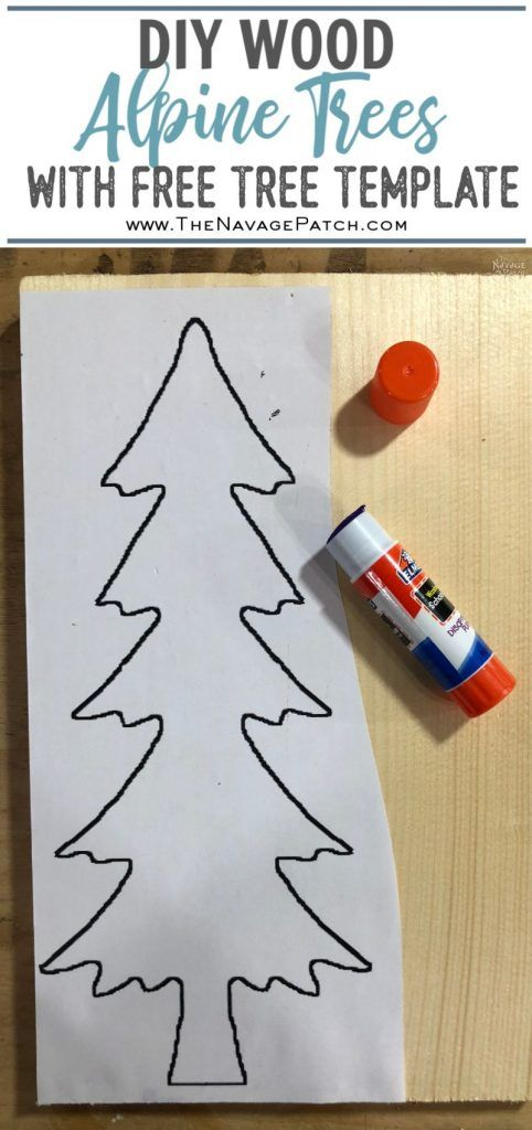 Diy Wood Alpine Tree With Jingle Bells Rustic Christmas Diy Christmas Tree Template Christmas Wood Crafts