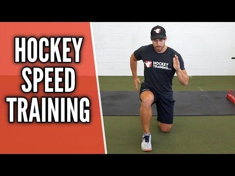 Hockey Speed Training Workout Youtube Video With Multiple Drills To Increase Your Speed On The Ice Hockey Training Speed Training Hockey