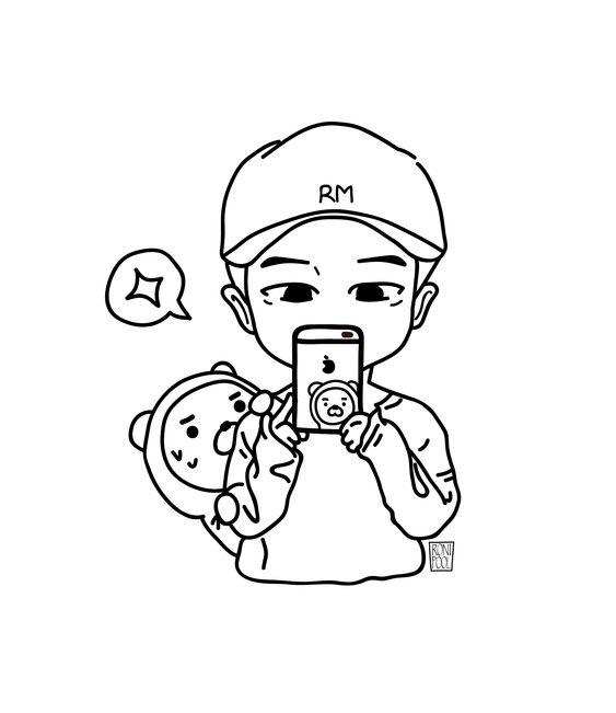 Bts Fanart Namjoon Rm Chibi Speed Drawing Roni Pool Chibi Coloring Pages Cute Doodle Art Bts Fanart