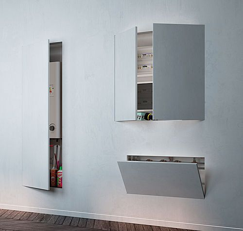 Syntesis tech est compos d 39 une huisserie et d 39 un panneau for Peindre aluminium anodise