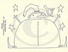 Fat Snowman Embroidery ePattern