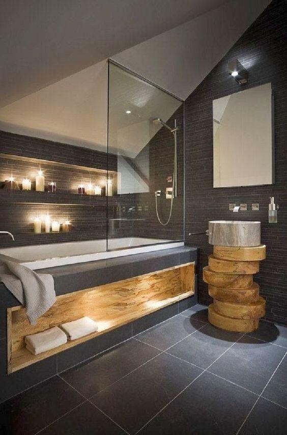 Salle de bains design and salles de bain modernes on for Mini etagere salle de bain