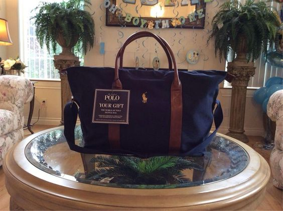 Ralph Lauren Polo Light Blue Canvas Big Pony Handbags