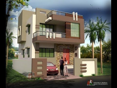 Modern Double Floor House Front Elevation Plans And Designs For Construction Youtube Simple House Design Bungalow House Design Castle House Plans