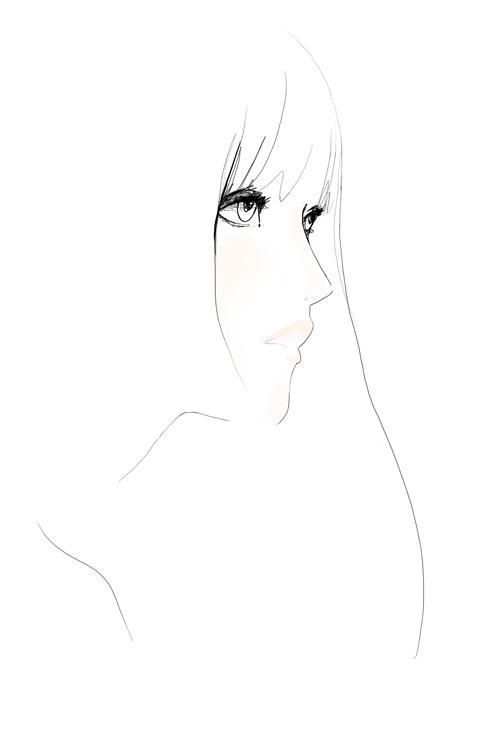 ink drawing garance door I wish I could draw like that.