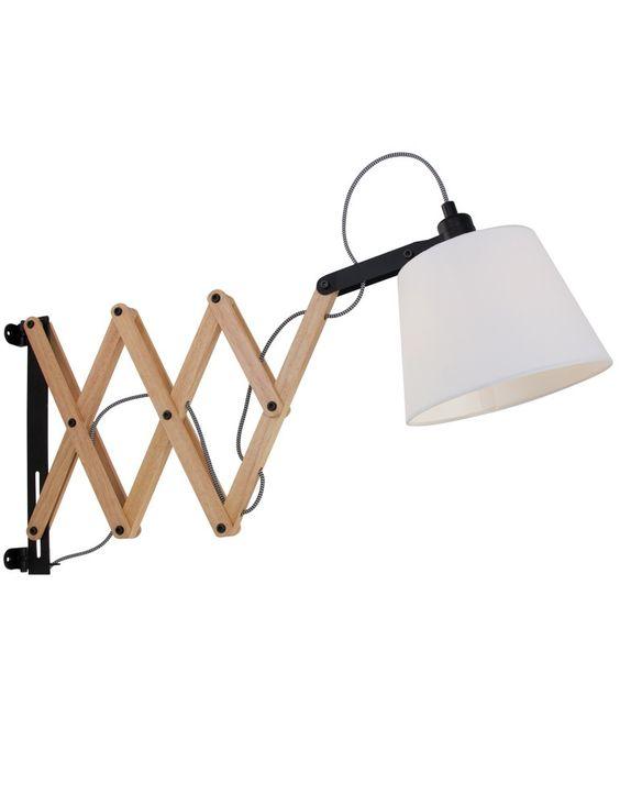 Scandinavische muurlamp leeslamp hout - Inspiratie woonkamer ...