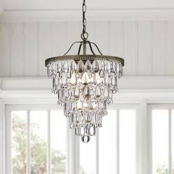 Bramers 6 Light Unique Statement Tiered Chandelier