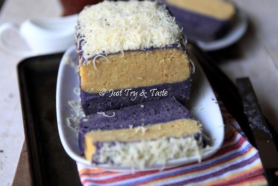 Resep Cake Lapis Talas Kukus Dengan Vla Talas Kue Hidangan Penutup Resep