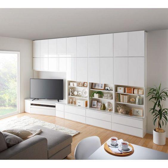 コーナーテレビ台壁面収納シリーズ 幅150cmTV台左壁設置用 通販 - ディノス
