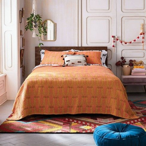 Leopard Matelasse Coverlet Orange Opalhouse Leopard Pillows