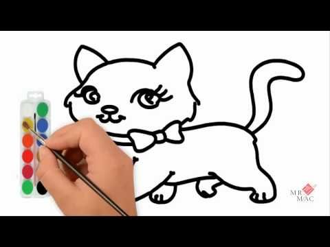 Learn Color How To Draw Amazing Cat Coloring Pages Youtube Vid Coloring For Kids Learning Colors Coloring Pages For Kids