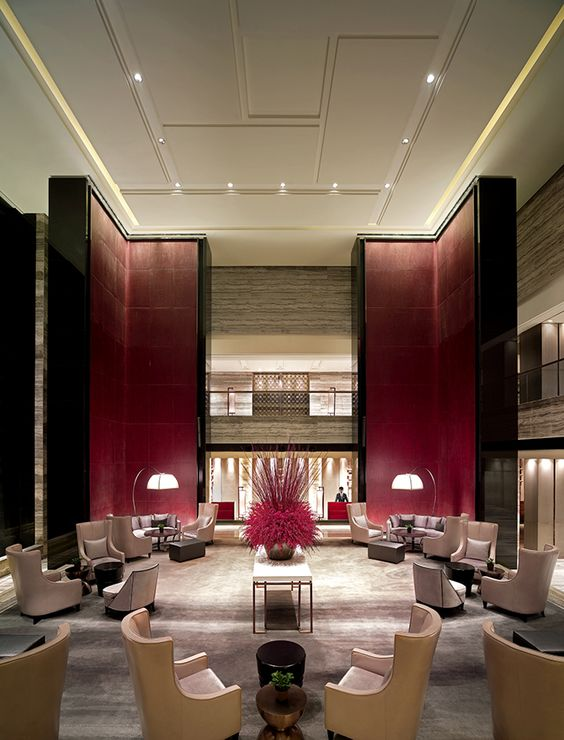 Tang lobby lounge new world beijing luxury hotel for Best hotel interior design