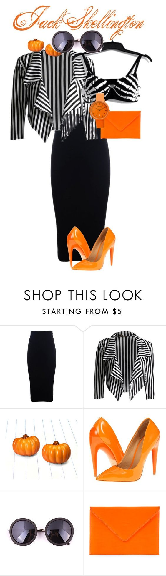 """""""Jack Skellington"""" by smithya1333 ❤ liked on Polyvore featuring Isabel de Pedro, L.A.M.B., Under Cover and Crayo"""