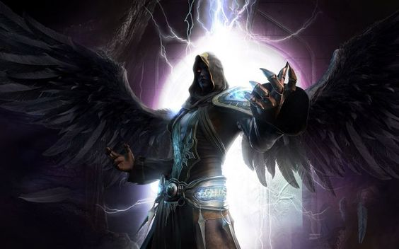 Dark - Angel evil wings devil lightning wallpaper background