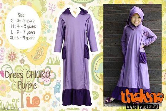 Abaya Young Girls Baju Muslim Anak Perempuan Gamis Syar 39 I