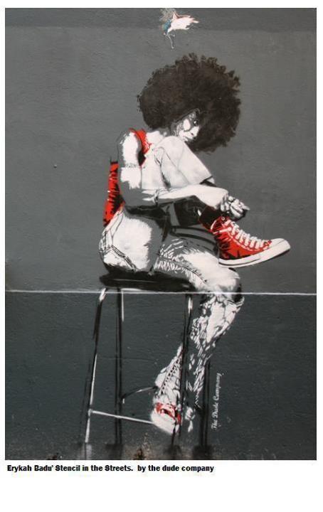 Badu Stencil hotness