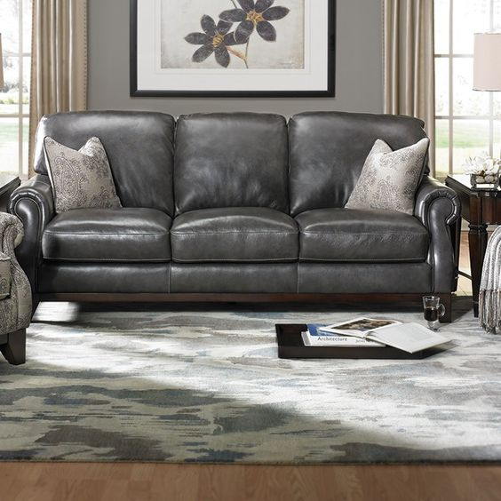 Handmade Top-Grain Leather Sofa