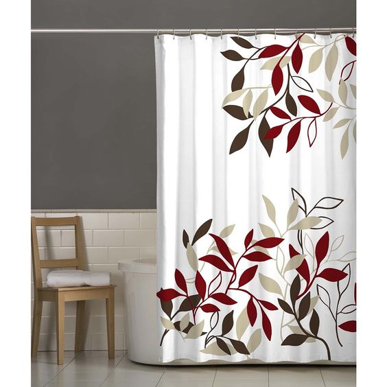 Fabric Shower Curtains Shower Curtains And Red Comforter