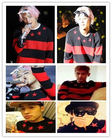 KPOP Bigbang Sweater Coat G-Dragon GD one of a kind Star Red Unisex Pullover #Allkpoper