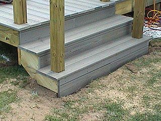 How To Build Basic Deck Stairs With Synthetic Treads   Simple Steps With  Hand Rails