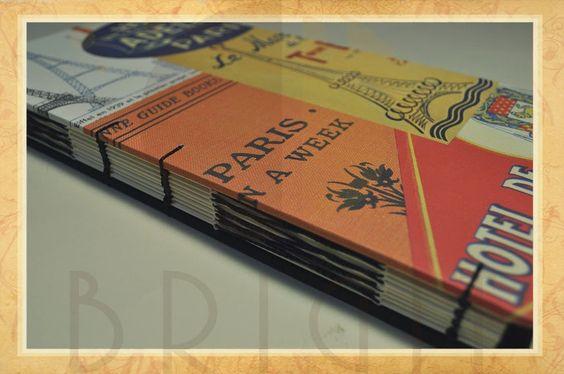 Hand bound book - Bookbinding - Encadernação artesanal -Estúdio Brigit: Sketchbook Paris (3)