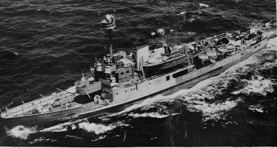 Abraham Crijnssen  before it was hit by minesweeper