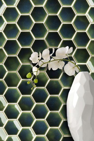 Setto 2- Godai Concave Hex in Gloss Green