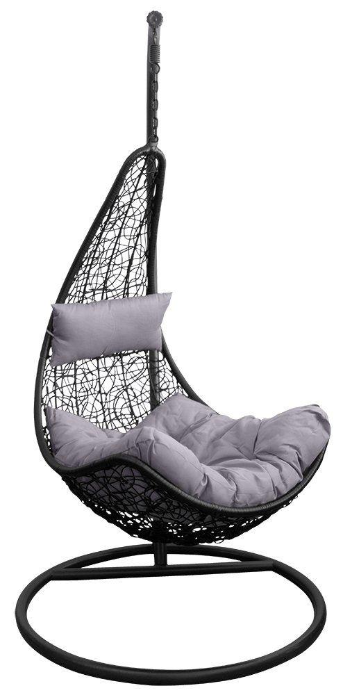 Amazon De Trendyshop365 Polyrattan Hangesessel Hangeliege Gartenliege Belastbar Bis 150kg Garten Lounge Hangesessel Hangestuhl