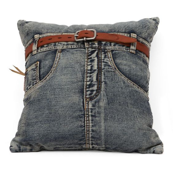Jean Cushion Blue Denim w/ Front Jean: