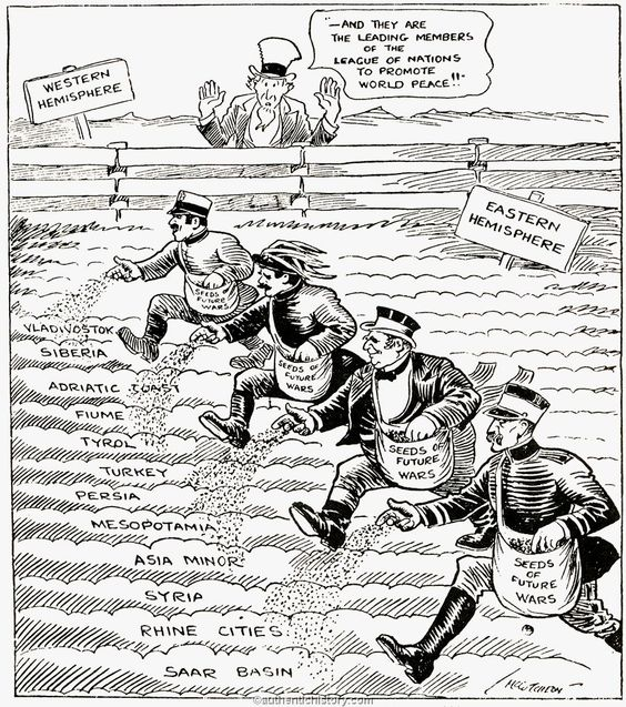 Woodrow Wilson League Of Nations Cartoon