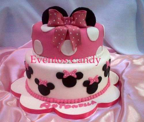 Minnie mouse fondant and mice on pinterest for Decoracion con fotos