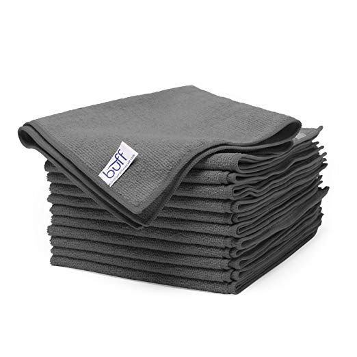 Gray Microfiber Cleaning Cloths By Buff Pro Best Towels For