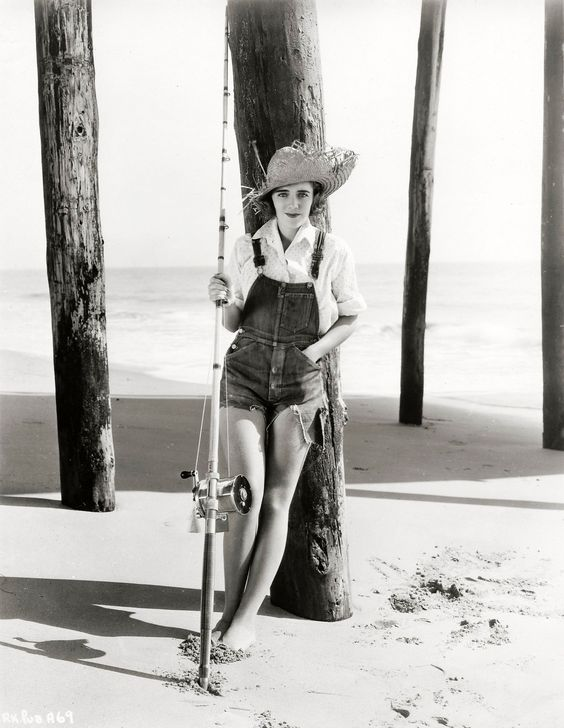 Canadian born actress Ruby Keeler looking seriously cute in a pair of cut-off denim overalls. 1934.: