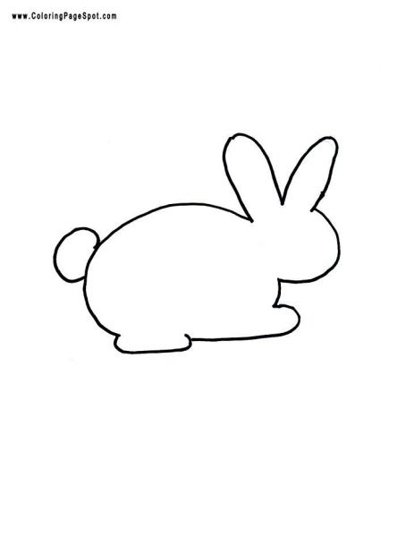 Bunny template easter crafts easter pinterest for Bunny rabbit templates free