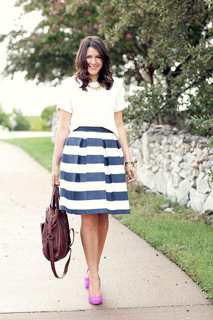 top - H & M, skirt - Corilynn, Shoes - Dolce Vita, Bag - Hobo Bags