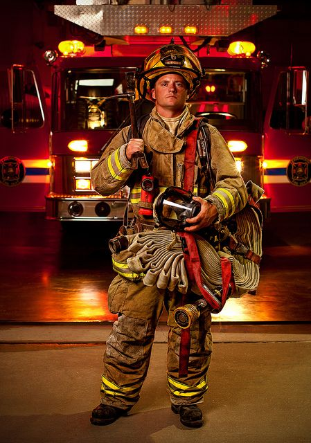 My version of Joe McNally's firefighter night shoot by Firefighter Photo Junky, via Flickr