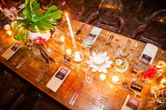 Rustic Tablescape | Wooden Table | Banquet Style |