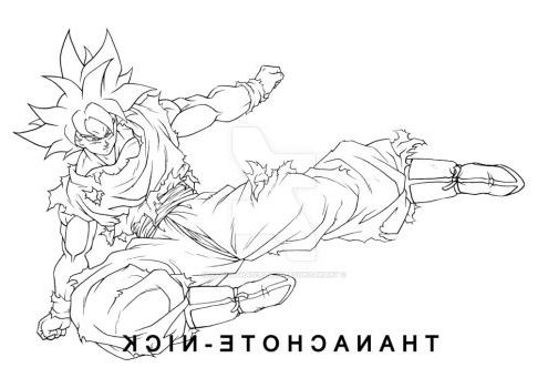 Coloriage Dragon Ball Super Goku Ultra Instinct