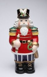 Fill this cookie jar with your favorite cookies anytime. Made of porcelain, this Nutcracker Cookie Jar with it's timeless design and dynamic colors will never go out of style.